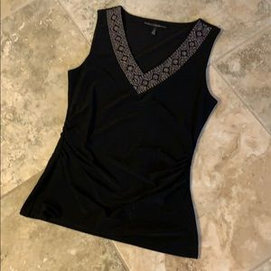 Black Rouched Top